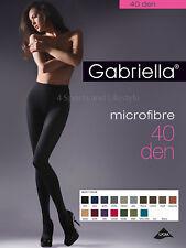 Gabriella Opaque Microfibre Black Tights, Pantyhose 40 Denier ladder resist