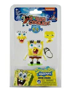 World's Coolest SpongeBob SquarePants Meme Keychain toy 3 Interchangeable Faces