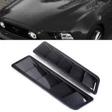 2stk Auto Lufteinlass Motorhaube Lufthutze Luftstrom Dachhutze Kohlefaser Stil