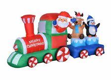 NEW Christmas Inflatable Santa Reindeer Penguin Train Lighted Yard Decor Outdoor