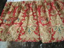 Ralph Lauren Jardiniere Red Scroll Floral King Bed Skirt
