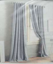 "DKNY Front Row Back Tab Window Curtain Panel 84"" Charcoal"