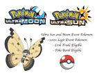 Pokemon Ultra Sun and Moon Region Specific Colorful Vivillon Sandstorm Pattern