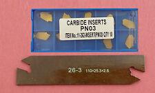 Abstechschwert 26mm + 10 Tin-Abstechplatten für Halter System Multifix E ET20100