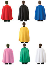 "Adult Superhero Cape Mens Womens Unisex Super Hero Costume Cloak 36"" Long NEW"