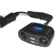 12V DC Car Cigarette Lighter Dual USB&2 Way Socket Splitter Charger Adapter
