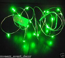 20 GREEN LED SUBMERSIBLE BATTERY STRING LIGHT 2m BRIGHT WEDDING CENTERPIECE UK