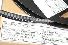 27MHz TSX-3225 27.000000MHz 12.0 +10.0-10.0 QUARTZ CRYSTAL SMD X1E000 [QTY=1pcs]