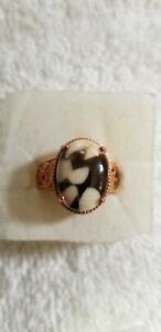 Peanut Wood Jasper Ring Size 9