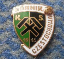 GORNIK CZESTOCHOWA SOCCER FOOTBALL FUSSBALL 1990's ENAMEL PIN BADGE