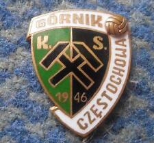 GORNIK CZESTOCHOWA SOCCER FOOTBALL FUSSBALL 1990's ENAMEL PIN BADGE