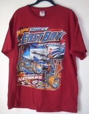 Men's T-Shirt,East Bay Nationals,Size L,Red,Short Sleeve,Graphic Tee,Women