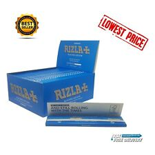 RIZLA BLUE KING SIZE SLIM CIGARETTE SMOKING ROLLING PAPERS ORIGINAL GENUINE