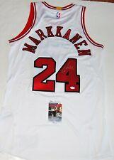 LAURI MARKKANEN signed (CHICAGO BULLS) WHITE AUTHENTIC PRO STYLE jersey JSA