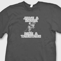 Star Wars Ride A Horse Save A Tauntaun T-shirt Funny Classic Movie Parody Tee
