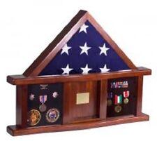 Military Medal Shadow Box w/ Display Case for Memorial Flag 9-1/2 X 5 BLACK FELT