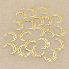 20x Multicolor Moon Filigree Slice for Necklace Pendant Making DIY Charms Gift