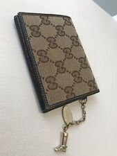 a51873c93061ed 100% Authentic Gucci Guccissima GG brown card holder wallet with gold boot  chain