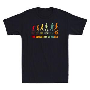 The Evolution Of Money BTC Crypto Funny Meme Novelty Men's Short Sleeve T-Shirt