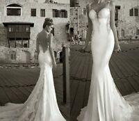 Backless Mermaid Beach New Wedding Dress Bridal Gown Custom 2-4-6-8-10-12-14-16+