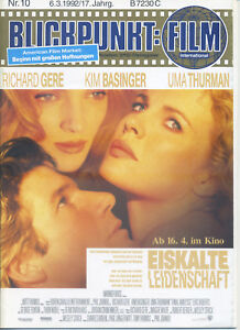 Blickpunkt Film Nr. 10 1992 17. Jahrgang Kino Kim Basinger Richard Gere Thurman