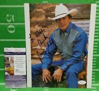George Strait Signed Autographed INSCRIBED to WILLIE, 8x10 Picture,JSA Certified
