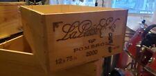'00 Wine Box Case Wooden Crate French Chateau la Petite Eglise Bordeaux