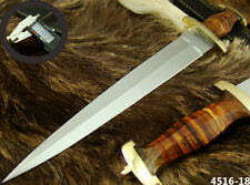 "ALISTAR 15.7"" CUSTOM HANDMADE DOUBLE EDGE SWISS DAGGER HUNTING KNIFE (4516-18"
