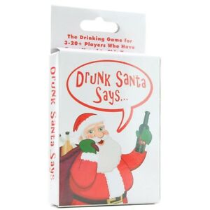 Adult Christmas Drunk Santa Says Kheper Drinking Group Game 3-20 Players