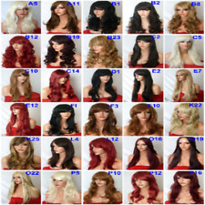 black light brown ash blonde highlight long women Fashion straight curly wig