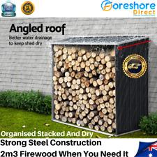 Log Wood Firewood Galvanised Steel Storage Protection Narrow Side Shed Shelter