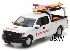 Greenlight Ford F150 2016 Rescue Vehicle w/ Lifeguard Accessories 1/64 29899
