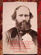 FROM RICHMOND TO TEXAS - JOURNEY OF CONFEDERATE SENATOR - CIVIL WAR - BRAND NEW