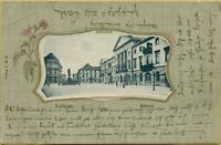 1417: Postkarte Ansichtskarte Karlsruhe Rathaus gelaufen 1901
