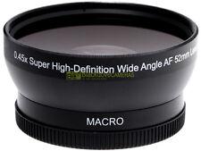 Aggiuntivo grandangolare 0,45x MACRO innesto 52mm. wide