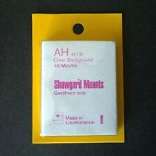 Showgard Stamp Mounts Size AH 41/31 CLEAR Background Pack of 40