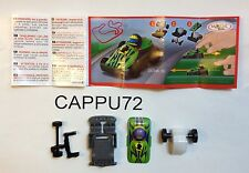 SPRINTY AUTO DA CORSA-- DC049(B) - Auto verde  +CARTINA kinder sorpresa