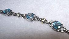 New Blue Topaz 14K Sterling Silver 925 Bracelet NWT