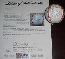 MLB Hall of Famers & Stars Signed OAL Baseball Puckett Blyleven Mattingly PSA