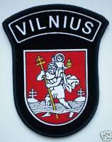 NEW Lithuania Uniform Sleeve Patch Police Vilnius City Capital