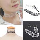 Women Fashion Handmade Crochet White Black Lace Choker Collar Necklace Jewelry