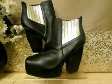 Messeca New York Black Leather Boots size 7uk