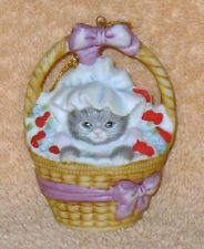 Kitty Cucumber Ornament Valentine Kitty In Basket Mint