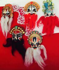 5 Small Face Masks Theater Mardi Gras Masquerade Decor Wall Art Ceramic Color