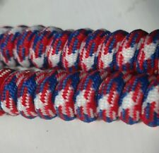 4 PAIR! Red White & Blue Curly Coil Shoe Laces, Child & Adult, No Tie Shoelace