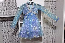 Barbie doll blue purple long sleeve sheer dress snowflakes Mattel fancy shiny