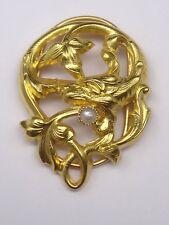 Ancien coulant de sautoir en or 18k Art Nouveau 1900