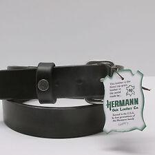 "Hermann Oak HARNESS LEATHER BELT Black  Winchester 45 MEN 1 1/2"" Made in USA"