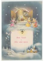 Merry Christmas Card Years 60 Jesus Child Comet Angels Cards Best Wishes Chiesa
