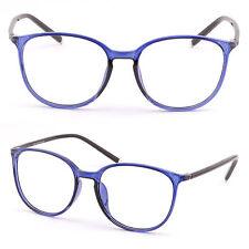 Rund Damen Brillegestell Kunststoff Oval Brillenfassung Panto TR90 Gestell Blau